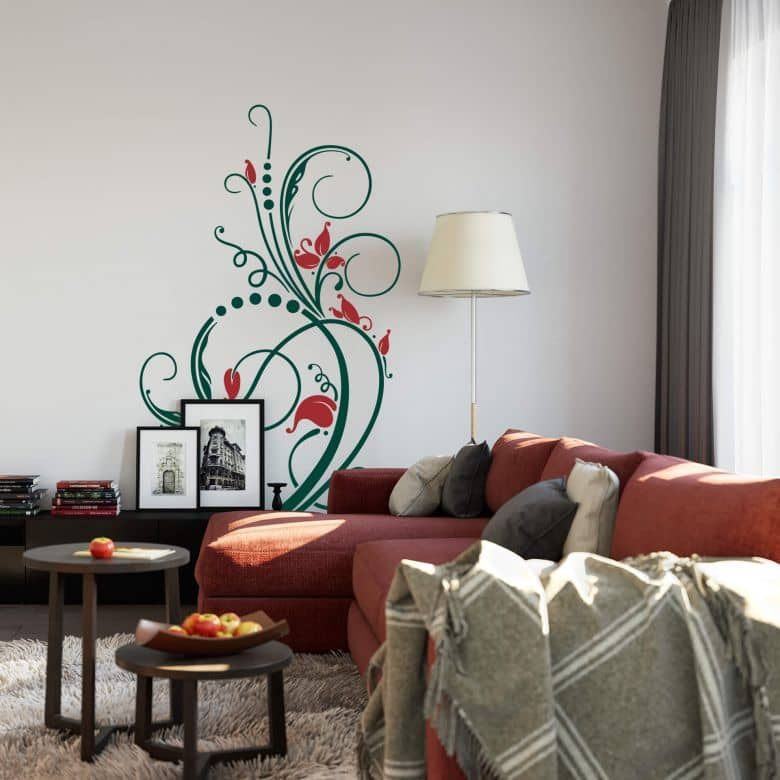 Flower Tendril 1 (2 colours) Wall sticker