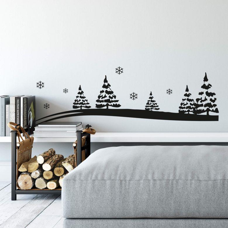 Wandtattoo Winterlandschaft