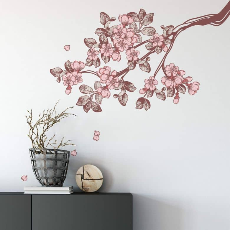 Vintage Cherry Blossoms Wall sticker