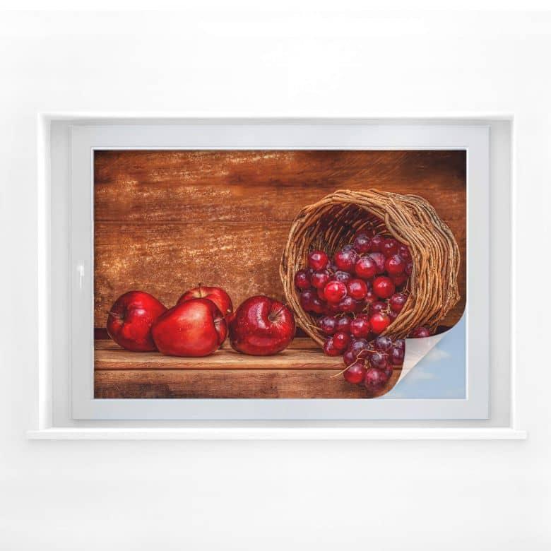 Sichtschutzfolie Perfoncio - Rote Früchte