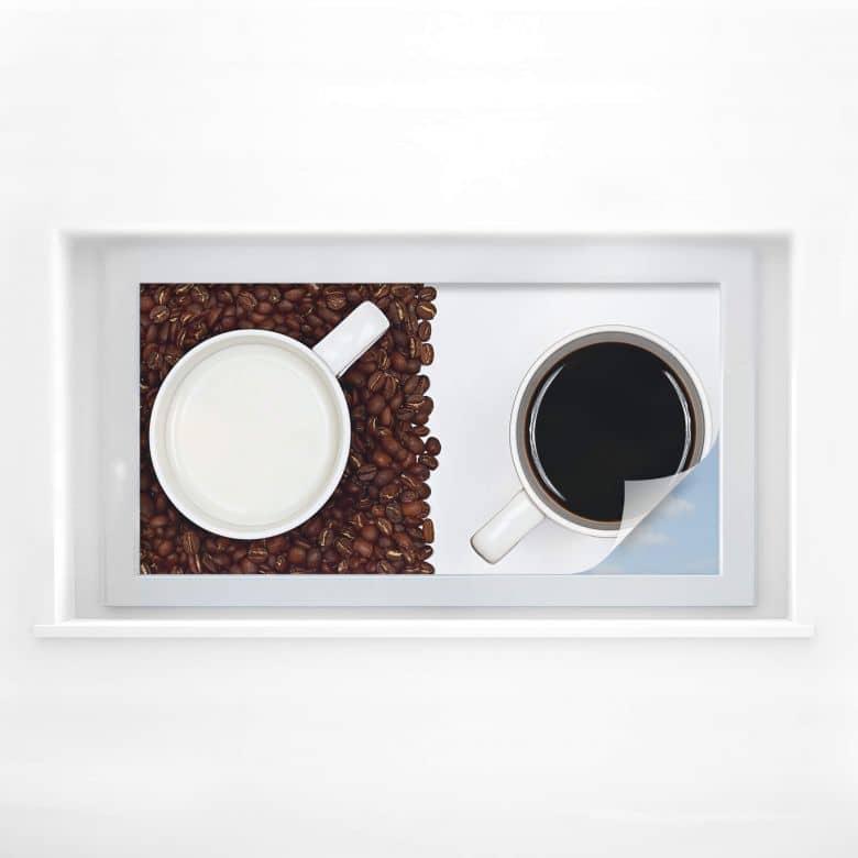 Sichtschutzfolie Lavsen - White Espresso - Panorama