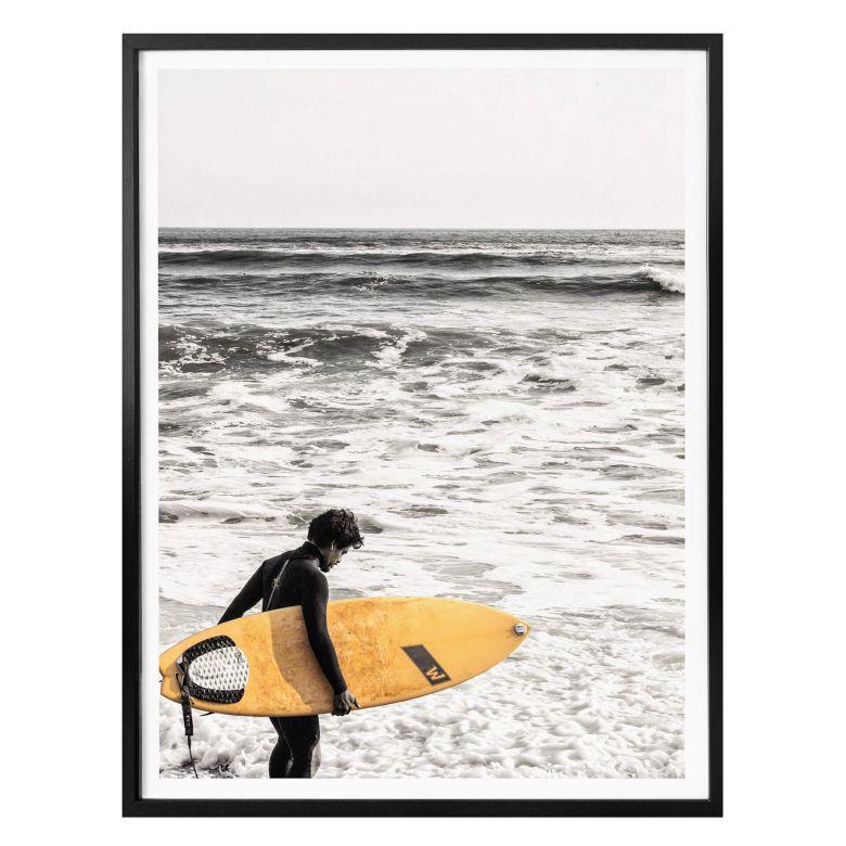 Poster - Das gelbe Surfbrett