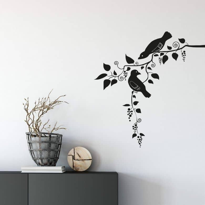 Wandtattoo Vögel