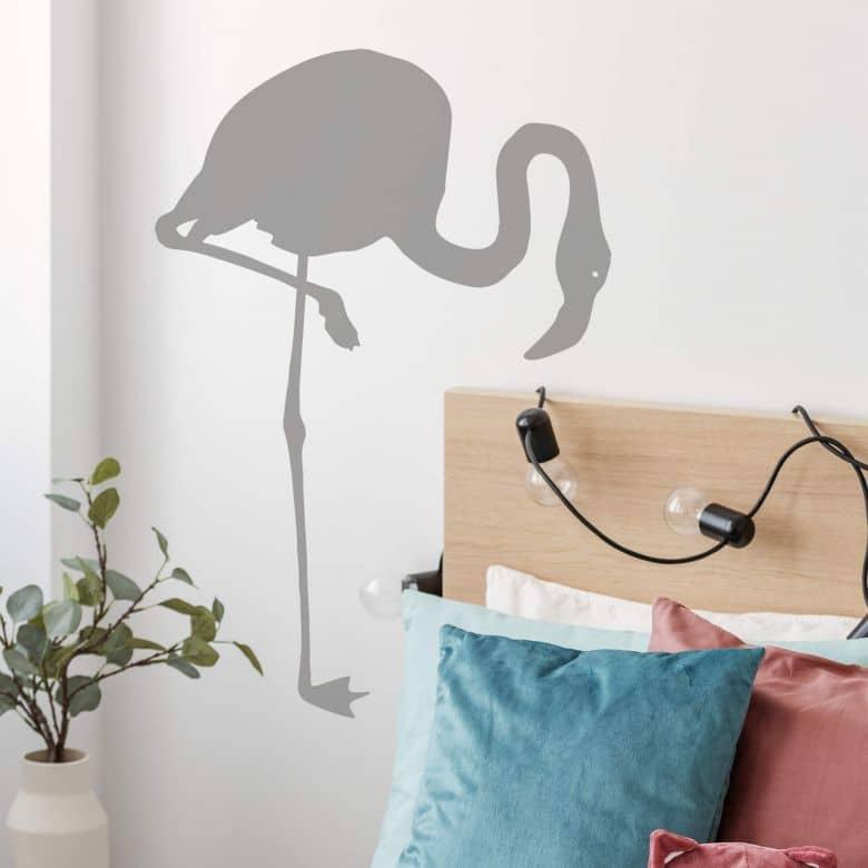 Wandtattoo Flamingo Silhouette