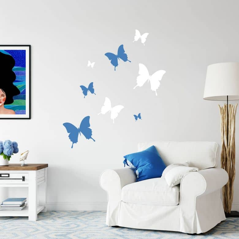 Wandtattoo Schmetterling 4 Schmetterlinge Als Wandtattoo Wall Art De