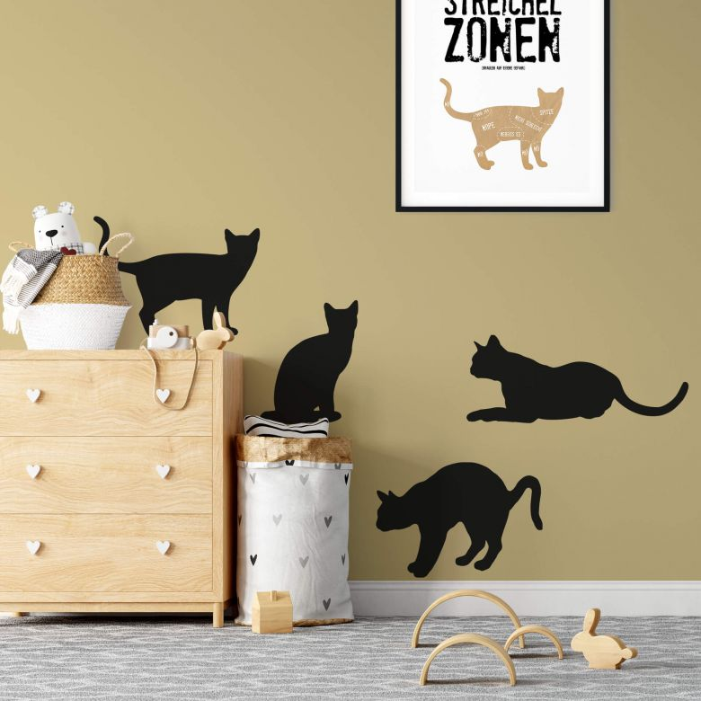 Sticker mural - Chat Domestique