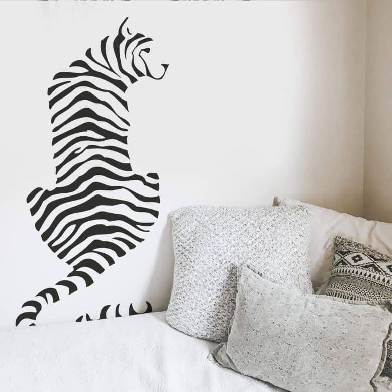 Sticker mural - Tigre Silhouette