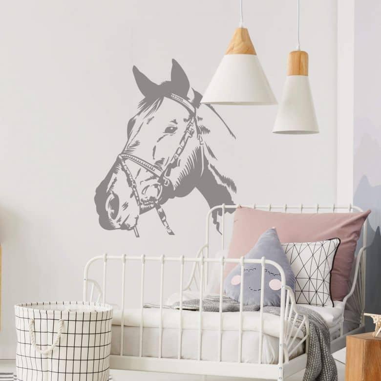 Adesivo murale - Testa di cavallo 2