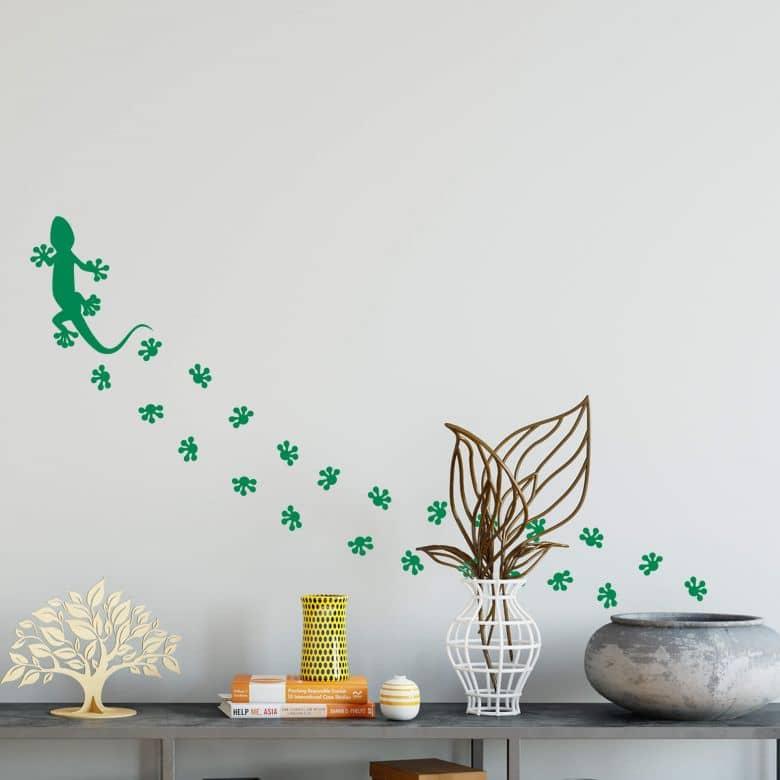 Adesivo murale - Impronte di geco