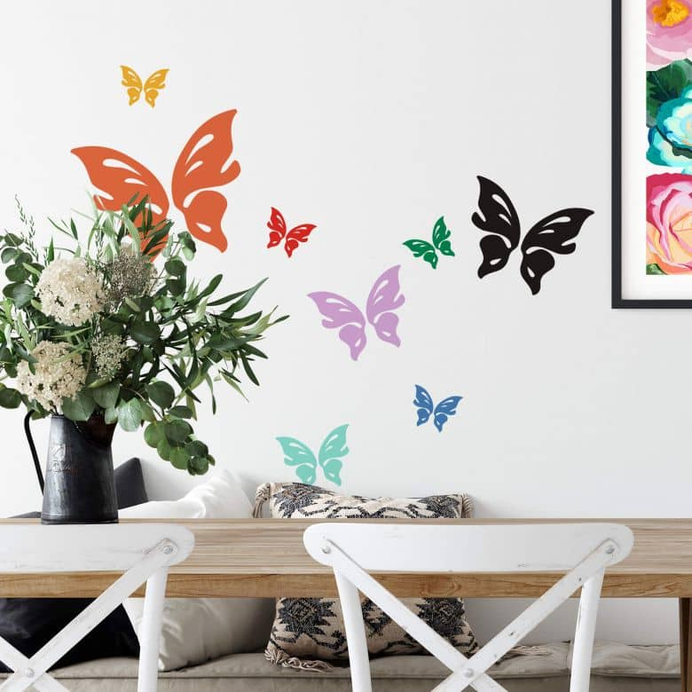 Sticker mural - Papillon Floris