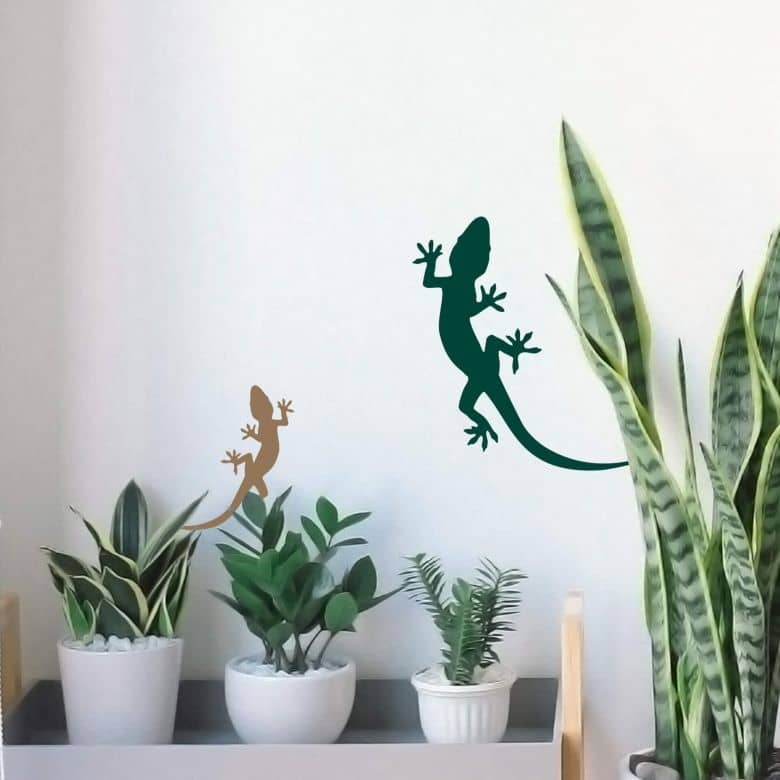 Wandtattoo Gecko 3