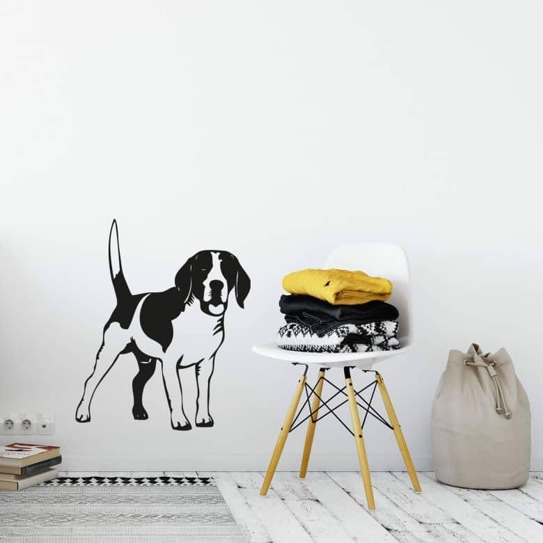 Wandtattoo Beagle 2