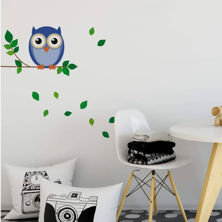 Einstein Owl Wall sticker