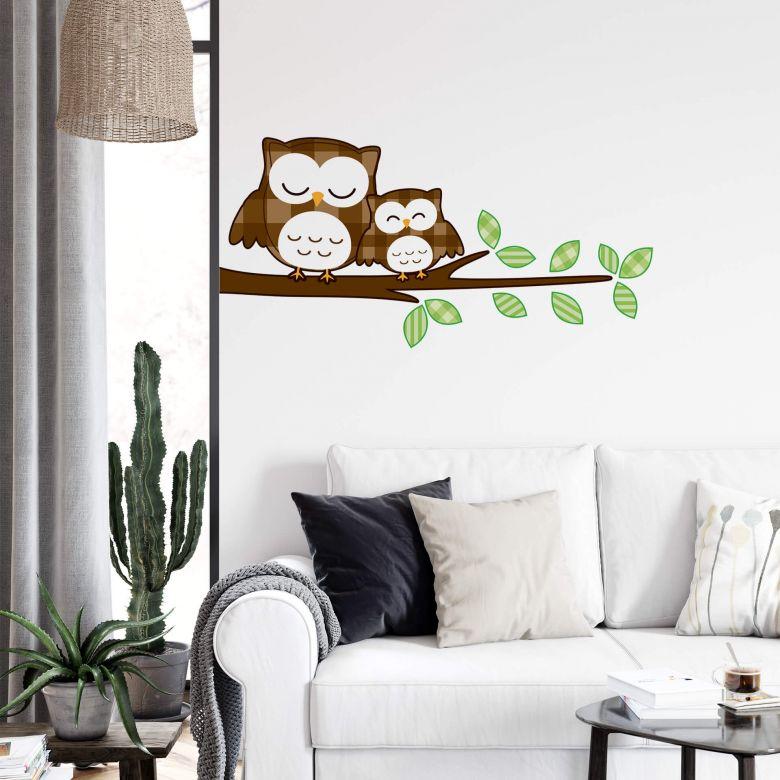 Sleeping Owls Wall sticker