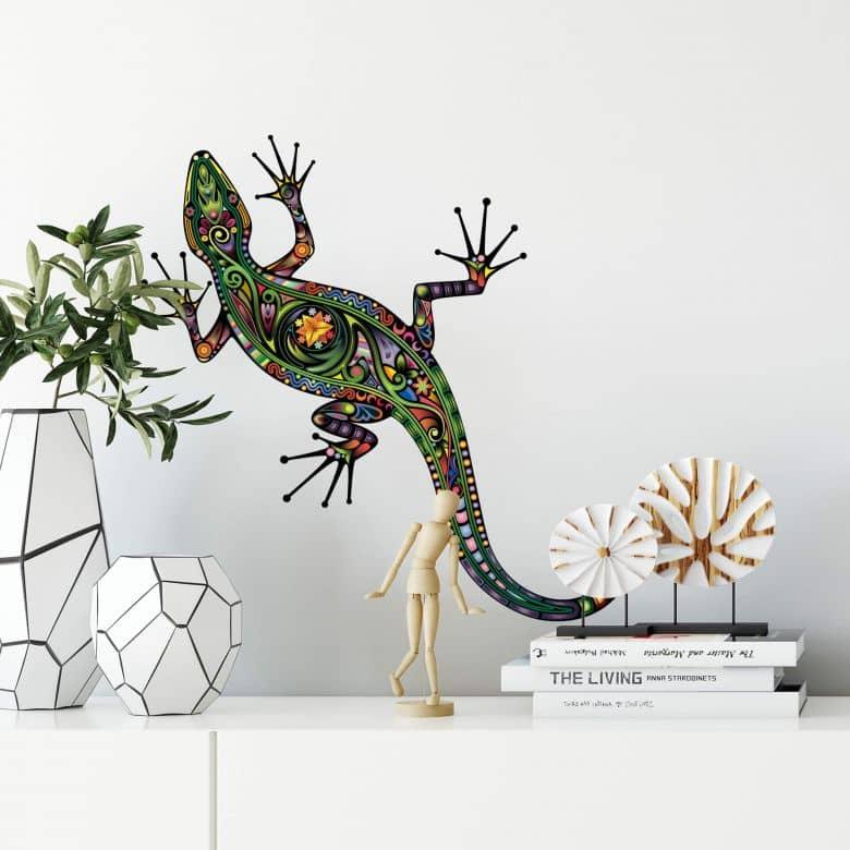 Colourful Gecko Wall sticker