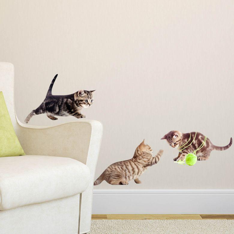 Sticker mural - Set de bébés chats 02