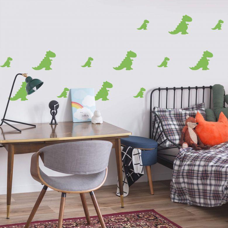 Sticker mural - Set dinosaure