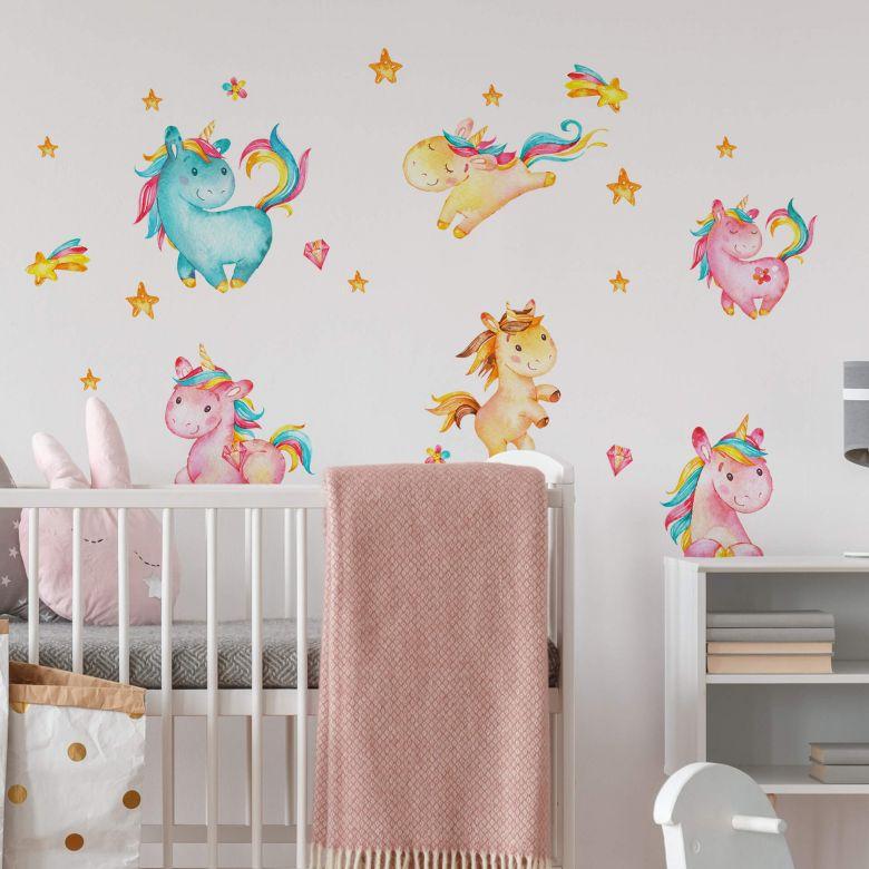 Wall sticker set Unicorns