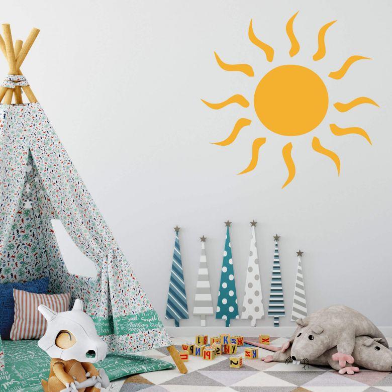 Wandtattoo Sonne Mit Der Warmen Sonne Als Wandtattoo Haben Sie Immer Sonnenschein Zu Hause Wall Art De