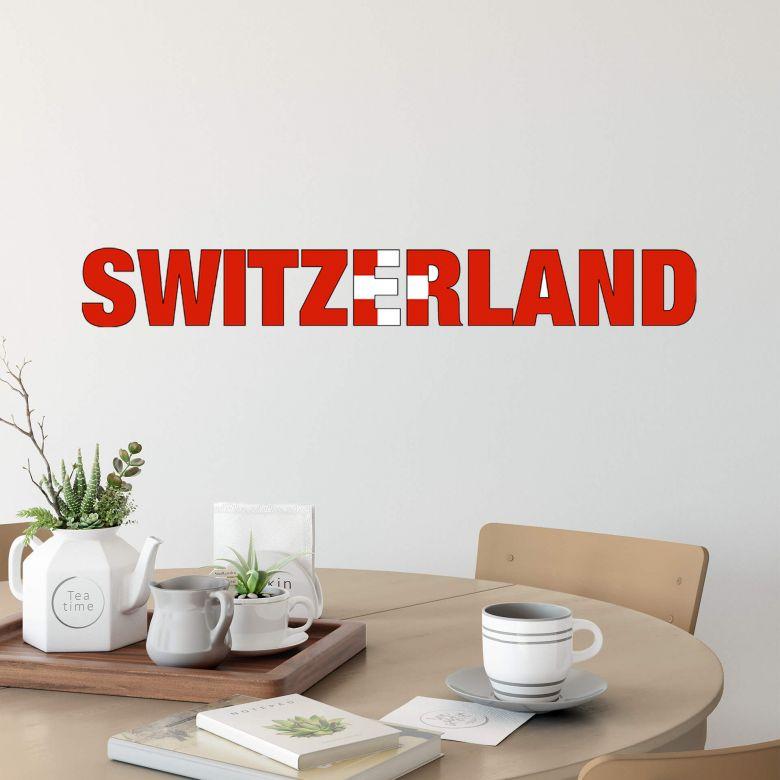 """Scritta """"Switzerland"""""""