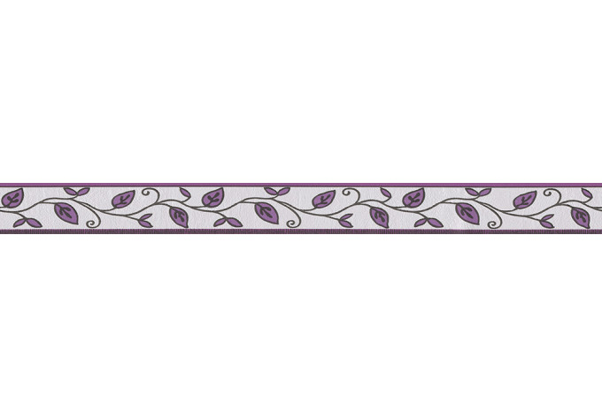 A.S. Création Only Borders 8 Cream, Black, Violet
