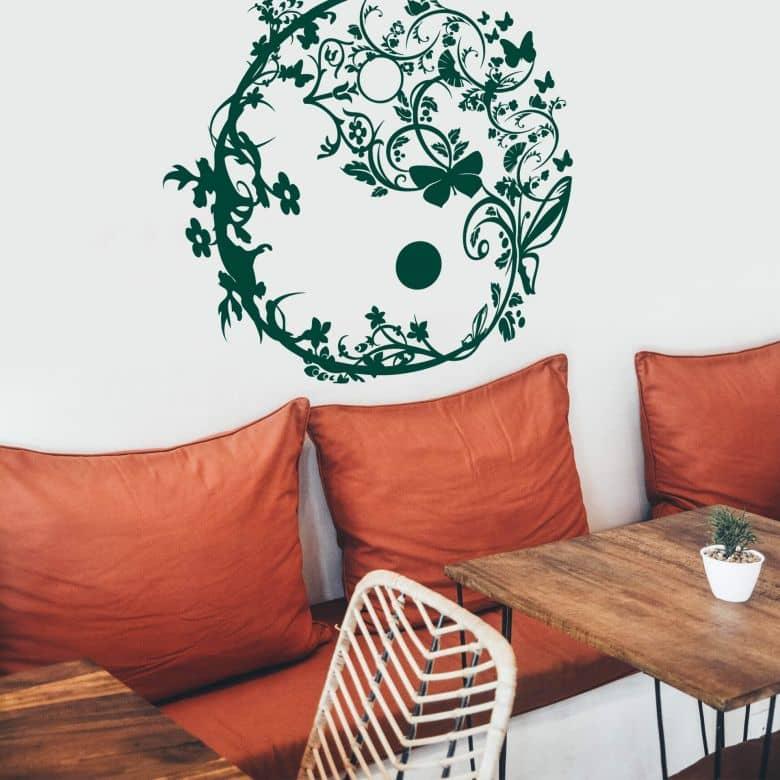 Sticker mural - Yin Yang Ornemental