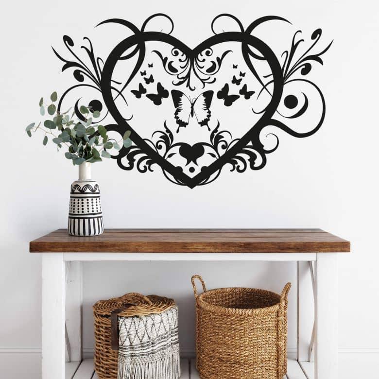 Adesivo murale - Ornamento floreale