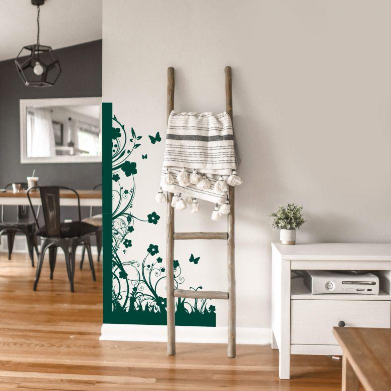 Sticker mural - Bordure Flower Power