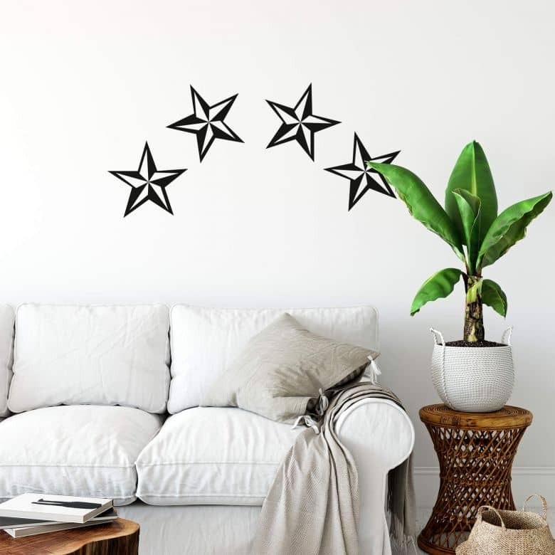 Nautical stars (set of 2) Wall sticker