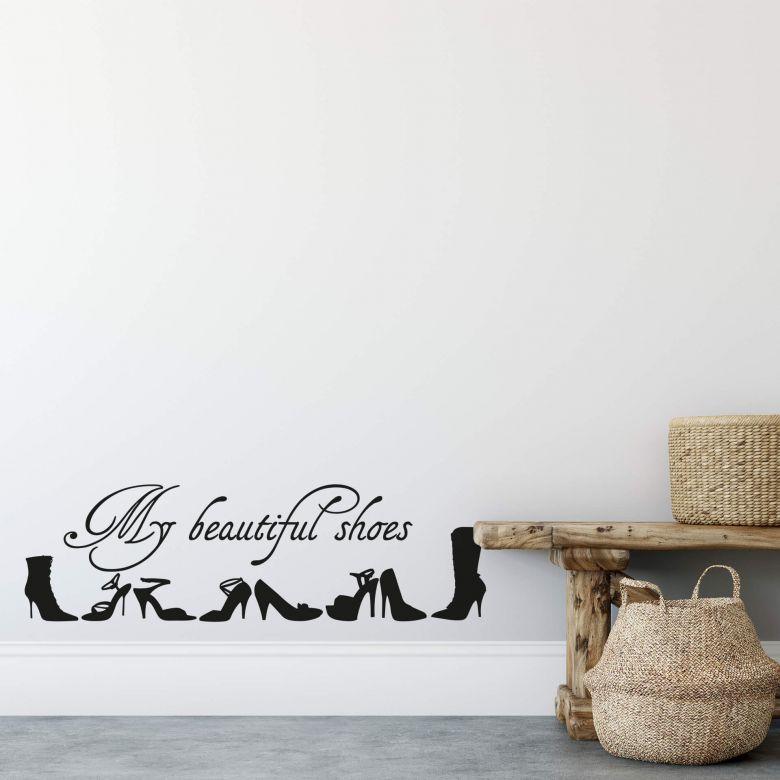 Adesivo murale - Le mie belle scarpe