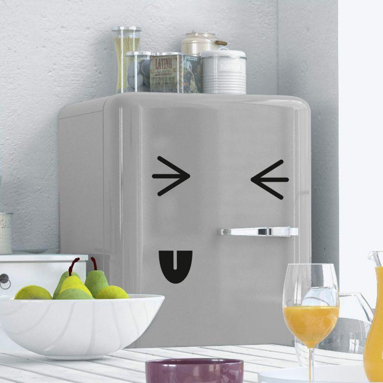 Wandtattoo Kühlschrankgesicht 5