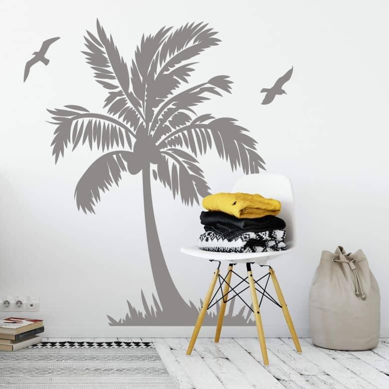 Sticker mural - Ile paradisiaque