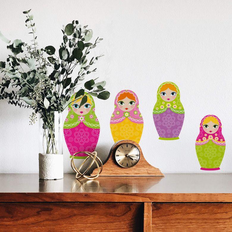 Sticker mural - Set Poupées russes