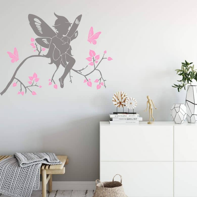 Elf on a Branch (2-colours) Wall sticker