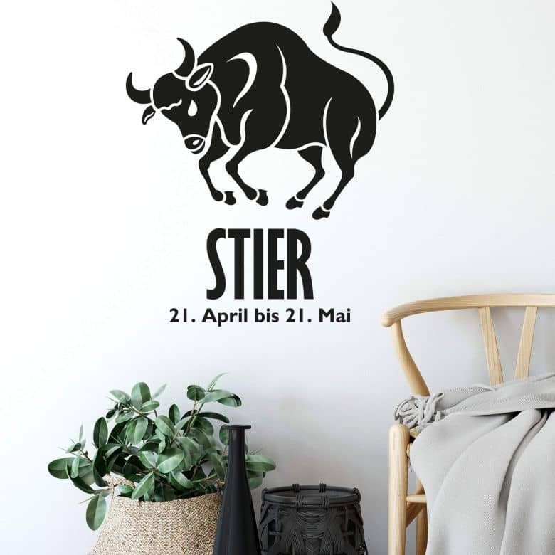 Wandtattoo Sternzeichen - Stier
