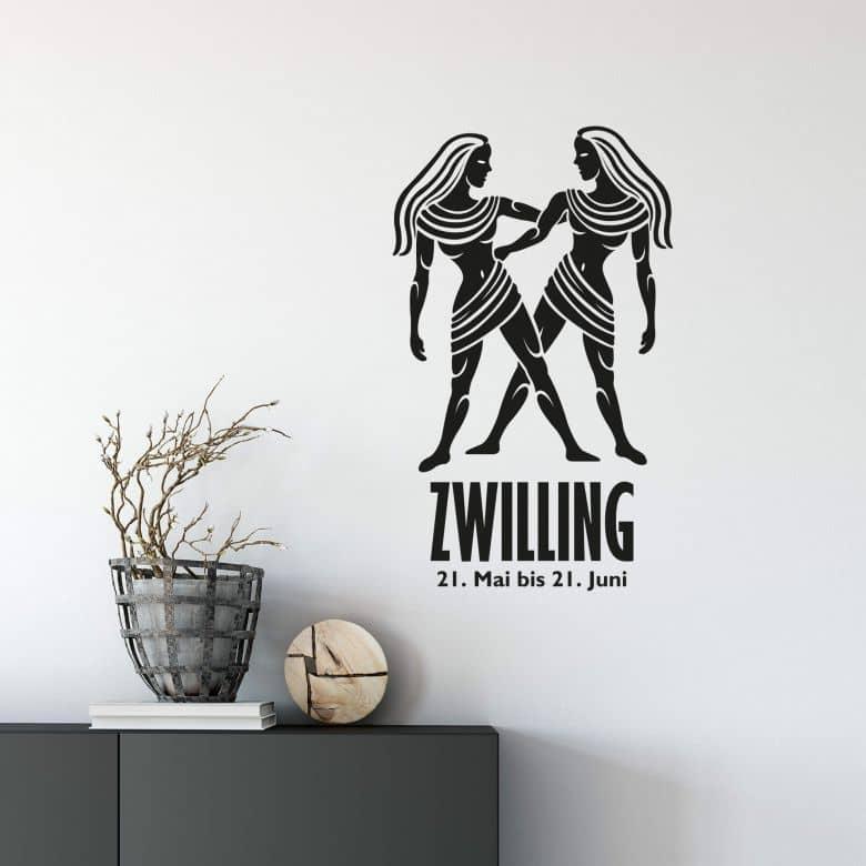Wandtattoo Sternzeichen - Zwilling