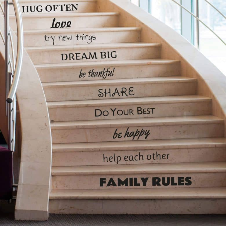 Family Rules - Wall Sticker