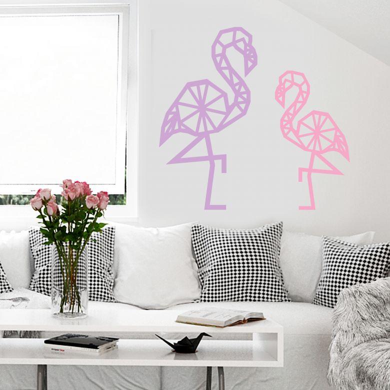 Wall sticker Origami Flamingo
