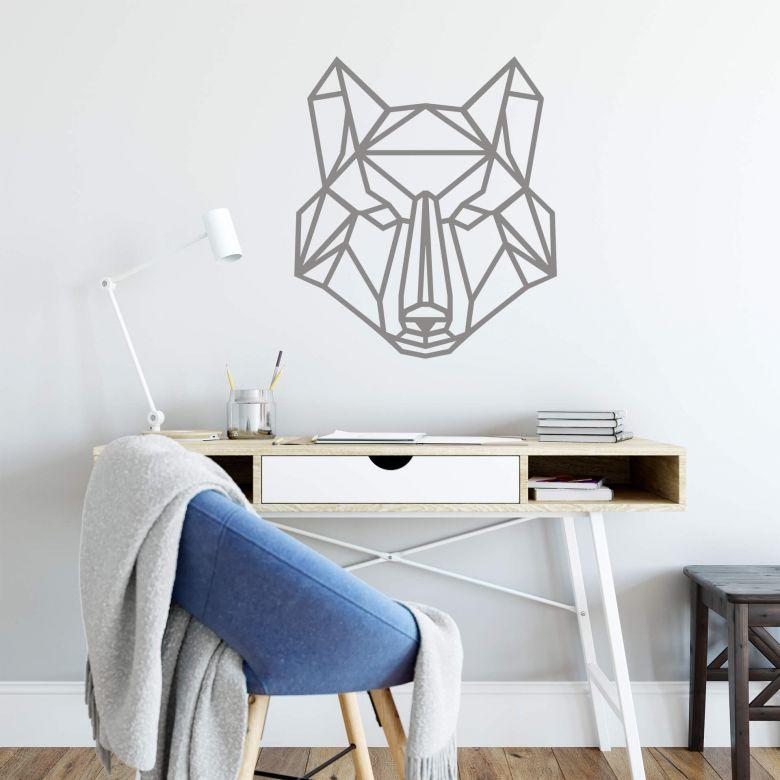 Wandtattoo Origami Wolf Wall Art De