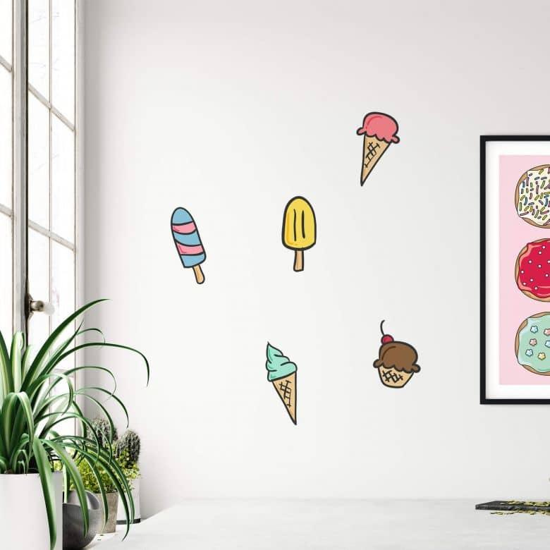 Sticker mural Set de glaces