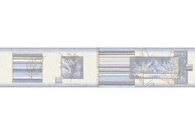 A.S. Création Bordüre Only Borders 8 Blau, Metallic, Weiß