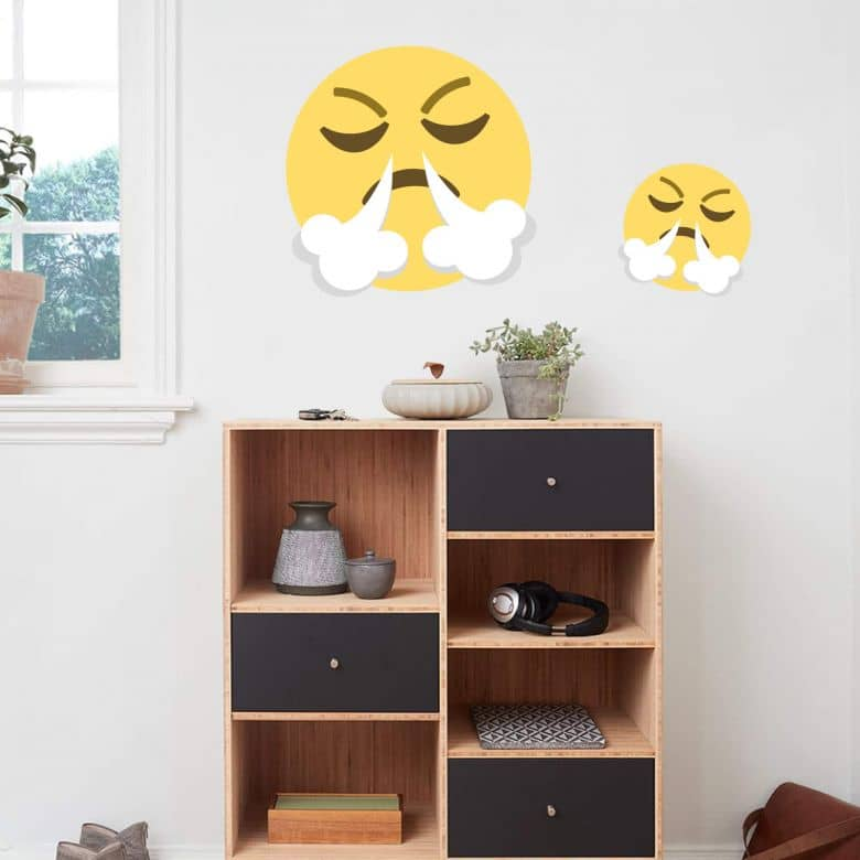 Wall Sticker Emoji Frustrated Face