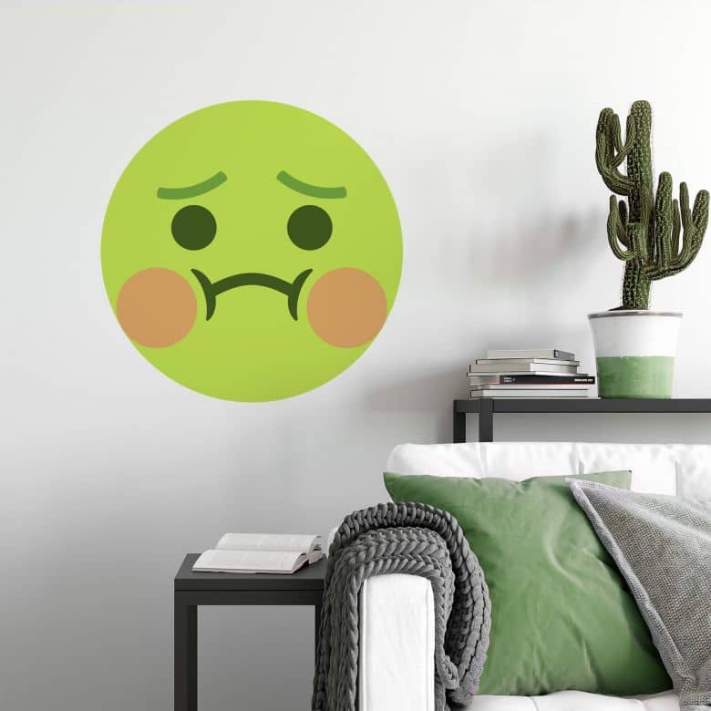 Wandtattoo Emoji Nauseated Face