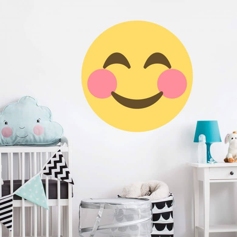 Wall Sticker Emoji Rosy-Cheeked Face