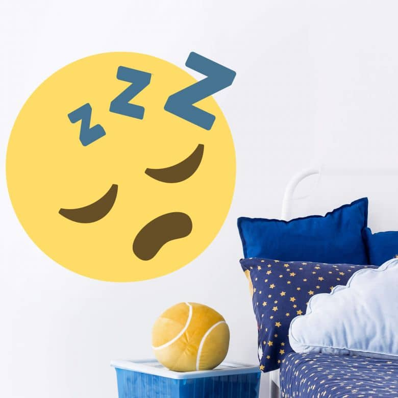 Wandtattoo Emoji Sleeping Face