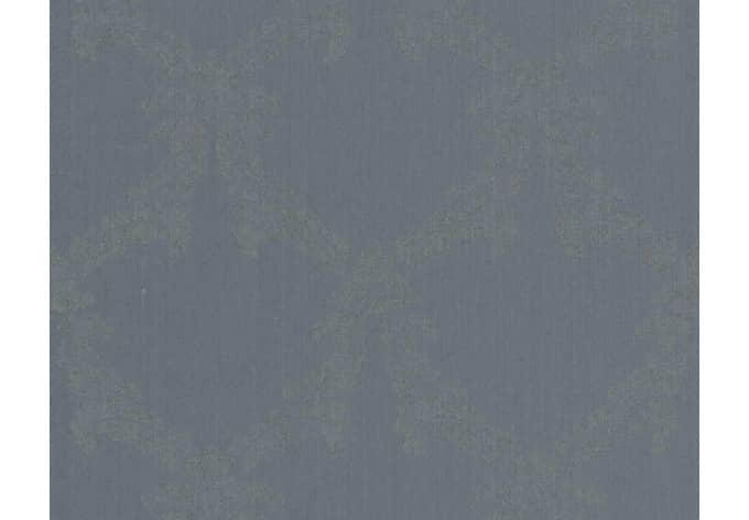Mustertapete Architects Paper Textiltapete Haute Couture 3 Blau, Grau, Metallic