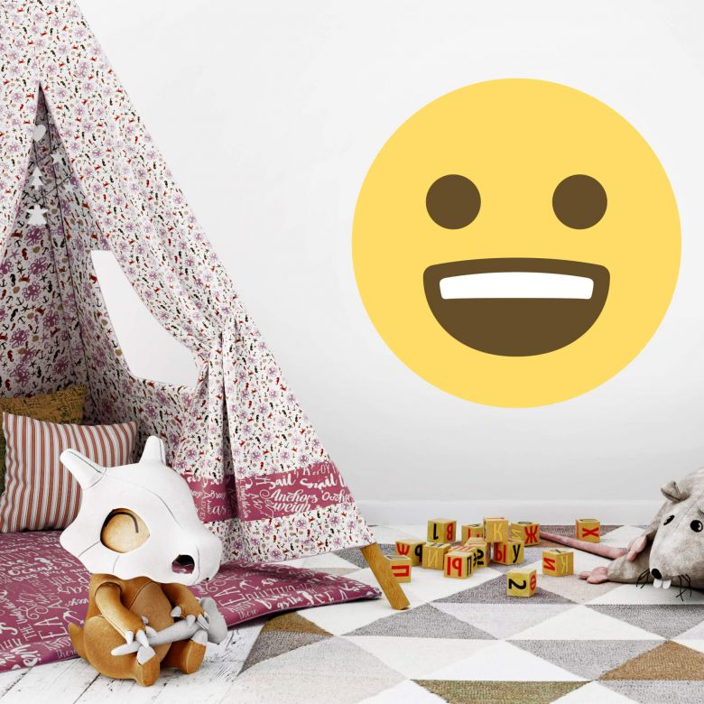 Wall Sticker Emoji Smiling Face 3