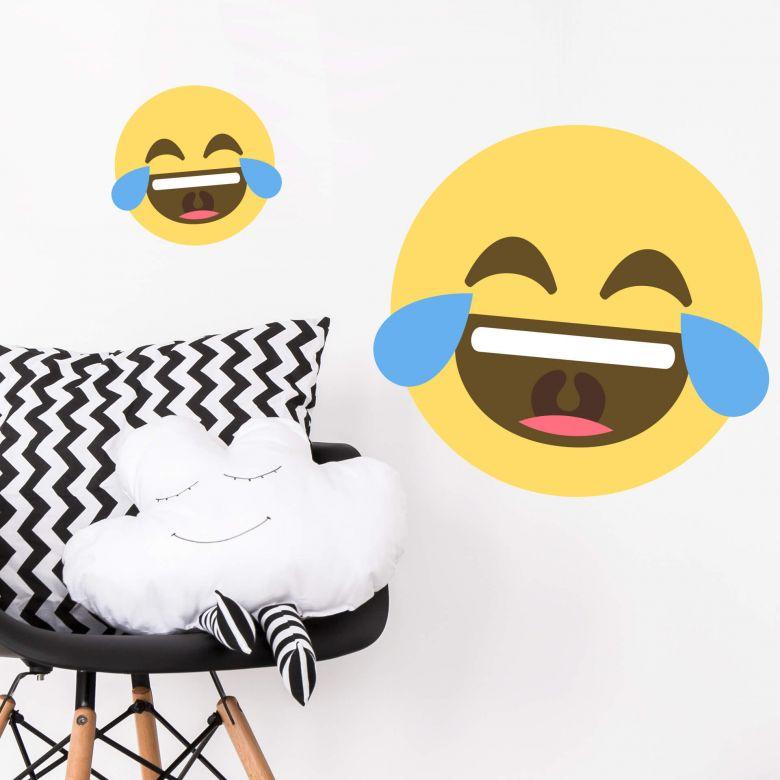 Wandtattoo Emoji Tears Of Joy