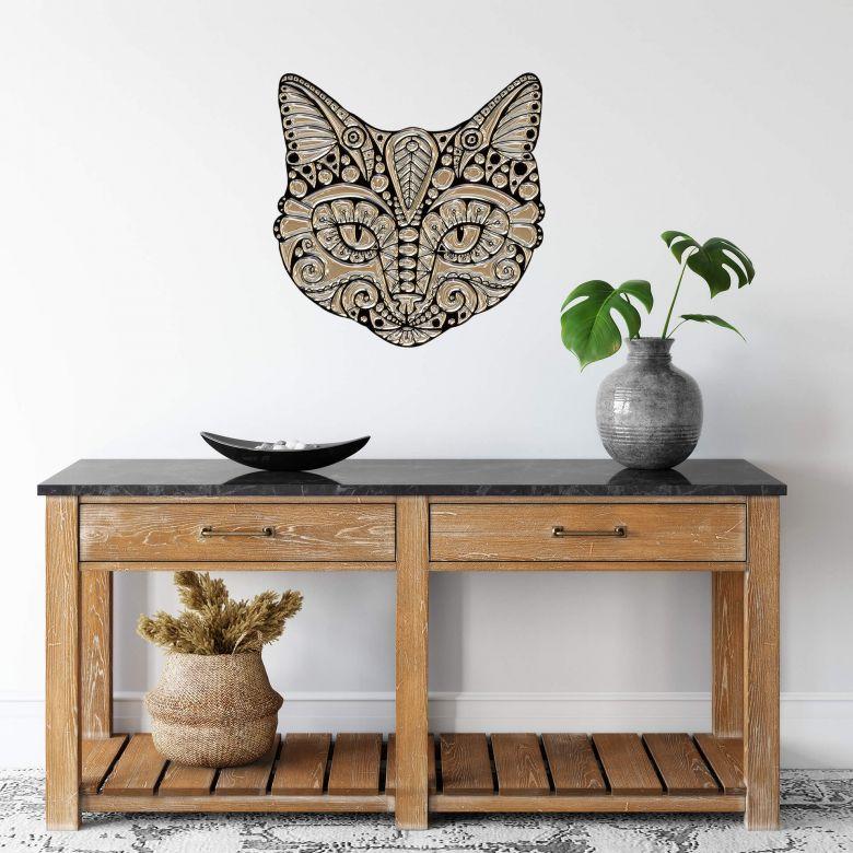 Wall sticker Metallic Cat