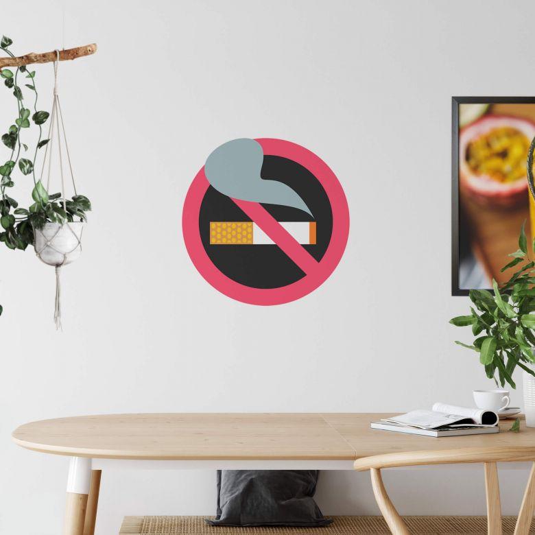 Wandtattoo Emoji No Smoking